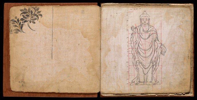 Standing figure of Sakyamuni Buddha