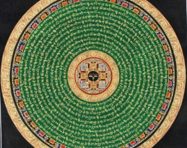 Buddha Eye mandala with mantra