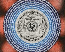 Om Lotus Mandala with Mantra