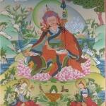 Guru Padmasambhava with Yeshe Tsogyal and Mandarava