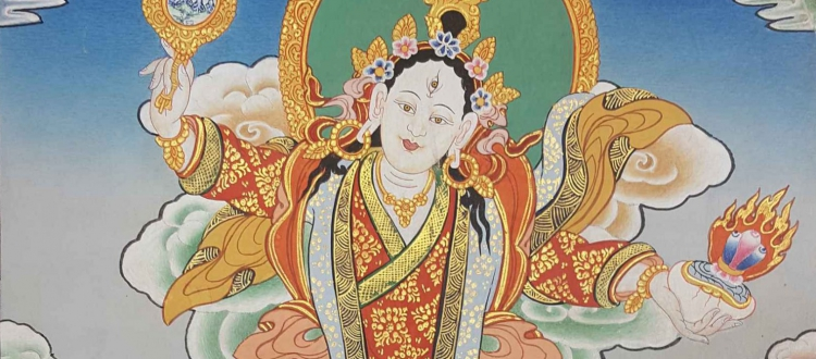 Mandarava Thangka Painting