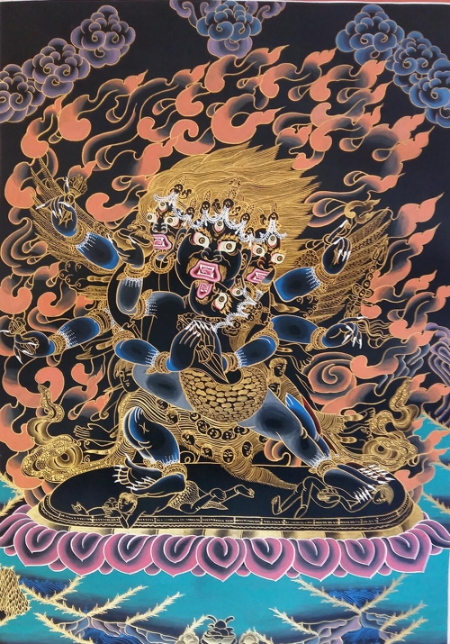 Traditional Vajrakilaya Tibetan Thangka Painting