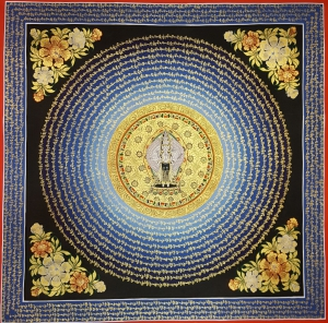 Avalokiteshvara Tibetan Mantra Mandala