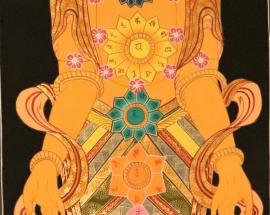 7 Chakras Tibetan Thangka