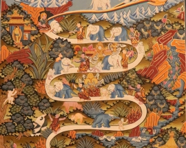 Way to Heaven Thangka Art