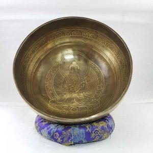 Bronze Amogsiddhi Buddha singing bowl