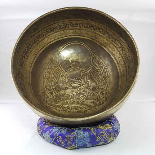 Bronze Akshobhya Buddha singing bowl