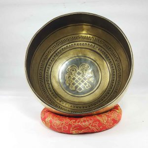 Bronze Endless Knot singing bowl