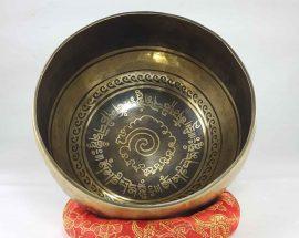 Bronze Spiral Mantra singing bowl