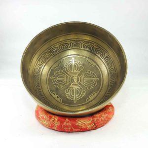 Carved Double Dorje singing bowl