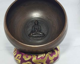 Buddha Embossed Singing Bowl