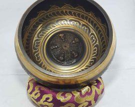 Pancha Buddha Embossed Singing Bowl