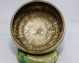 Om Mane Padme Hum Mantra Design Singing Bowl
