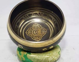 Double Dorje Design Singing Bowl