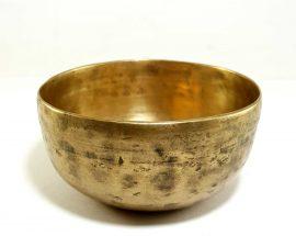 Antique Handmade Singing Bowl 365hz F4 Chakra