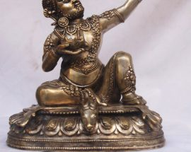Statue of Mahasiddha Virupa with Silver Plating
