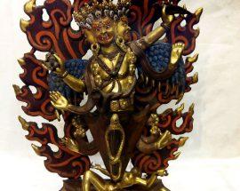 Old Four Arm Phurba Mahakala Statue