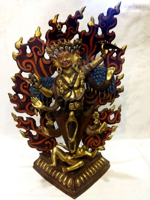 Old Four Arm Phurba Mahakala Statue