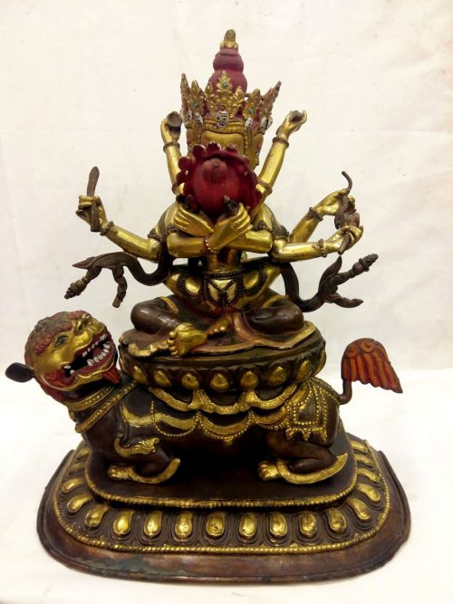 Old 6 Arms Vajrasattva Shakti Statue