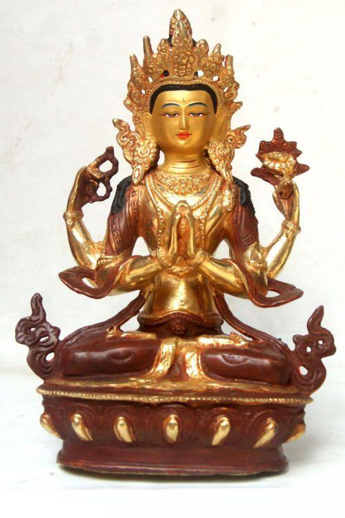 Chenrezig Copper Statue