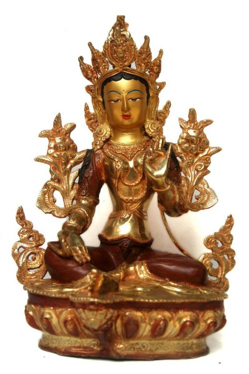 Green Tara Copper Statue