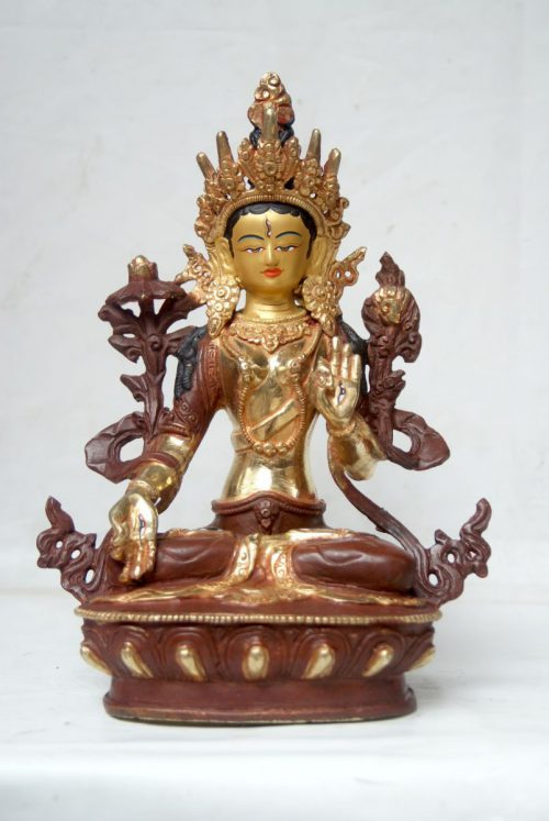 White Tara Copper Statue