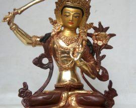 Manjushree Copper Statue