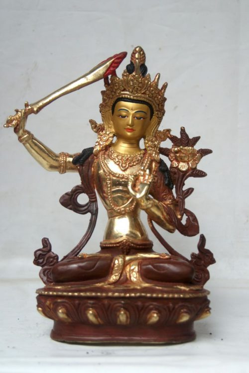 Manjushree Copper Statue