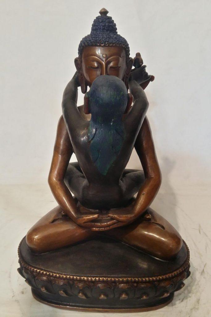 Samantabhadra Statue Double Color Oxidizexd