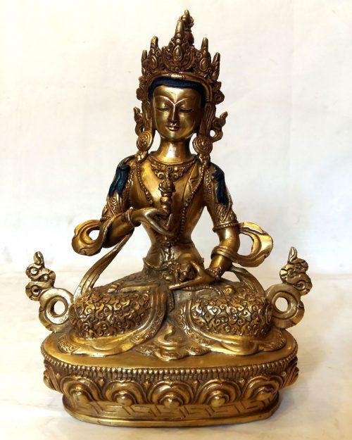 Vajrasattva Statue -Full Fire Gold Plated