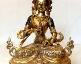 Vajrasattva Statue- Full Fire Gold Plated