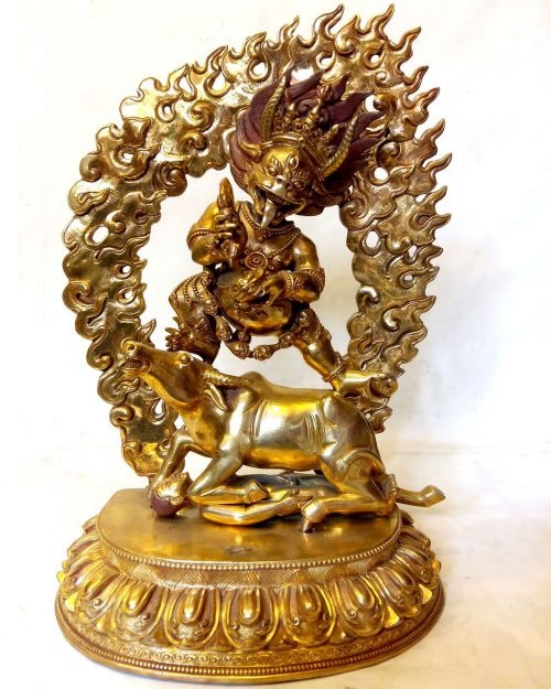 Yamantaka Statue: Full Fire Gold Plated