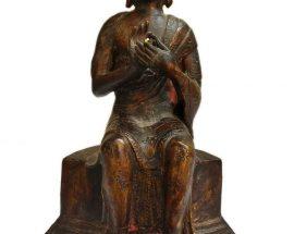 +50 Year Old Antique Statue of Maitreya Buddha
