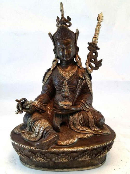 Padamasabhava Statue with Silver Work