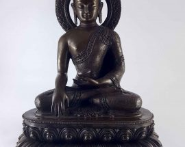 Shakyamuni Buddha Statue Copper with Carving HQ