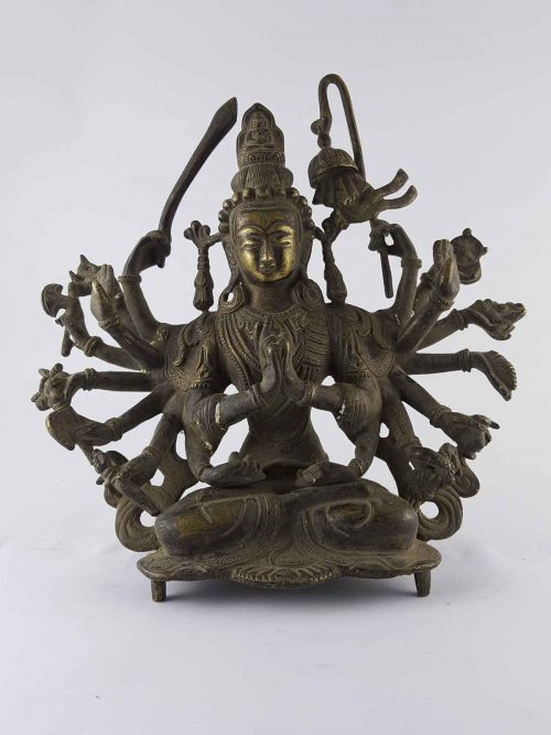 Chundi Statue Brass +60 Years  Antique