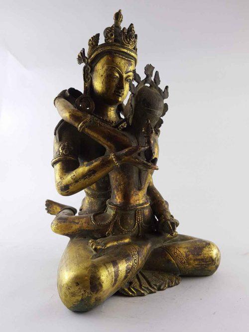 Vajrasattva Shakti Statue Copper