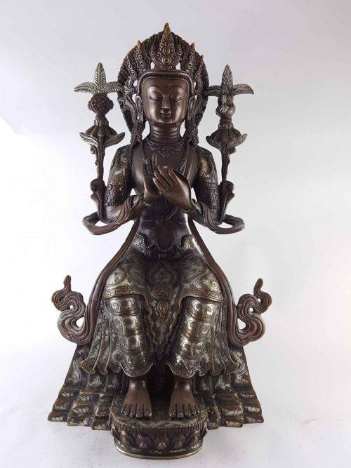 Maitreya Buddha Statue Copper