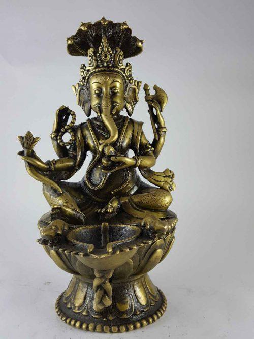 Brass Ganesh Sukhnda statue