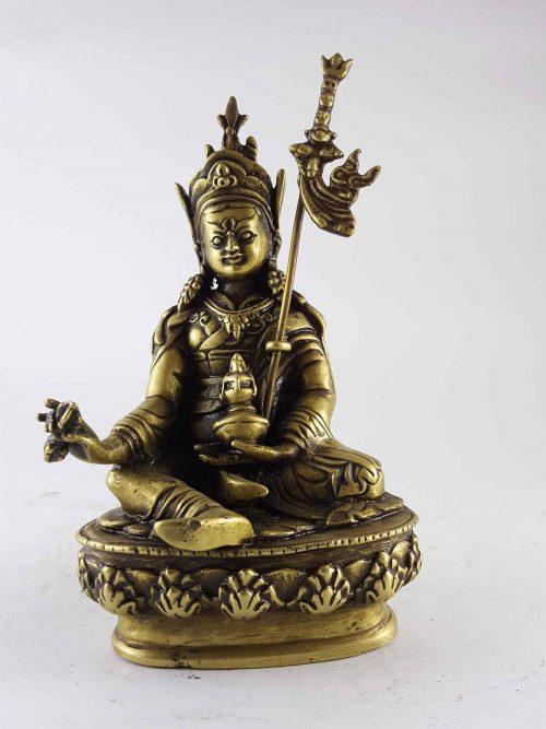 Brass Padmasambhava statue