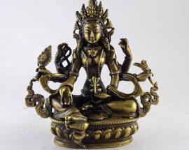 Brass Vasundhara Statue
