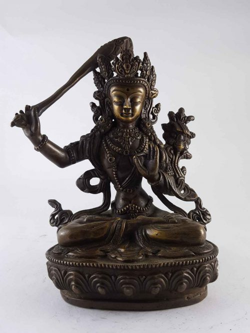 Antique Copper Manjushree Statue