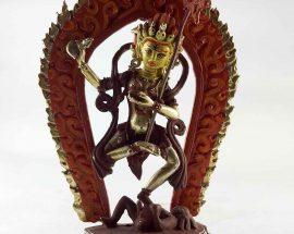 Copper Statue of Niratama Yogini Painted Face