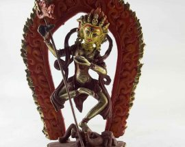 Copper Statue of Vajravarahi Painted Face