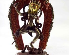 Copper Statue of Varahi Painted Face