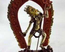 Copper Statue of Vajrayogini Painted Face