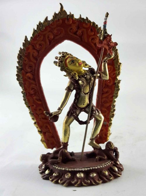 Copper Statue of Vajrayogini Painted Face