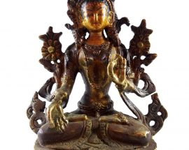 Handmade Statue of White Tara Painted Face
