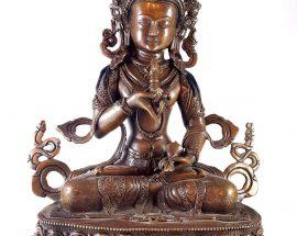 Statue of Vajrasattva Double Lotus Carving