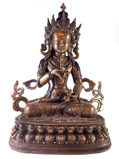 Statue of Vajrasattva Double Lotus Carving